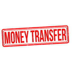money transfer grunge rubber stamp vector image