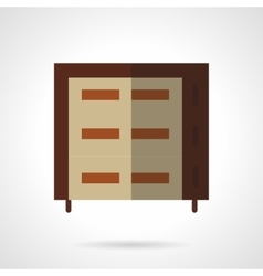 Multilevel brown oven flat icon vector