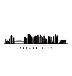 panama city skyline horizontal banner vector image