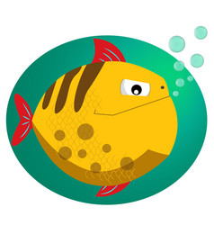 Piranha fish cartoon character isolated on white vector