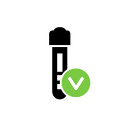 positive medical test result icon vector image