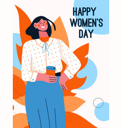 Poster happy womens day concept vector