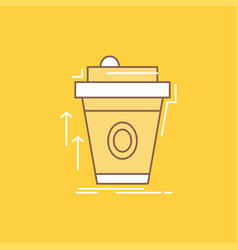 Product promo coffee cup brand marketing flat vector