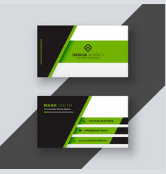 Professional green business card template vector
