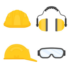 Protective equipment for industrial security vector