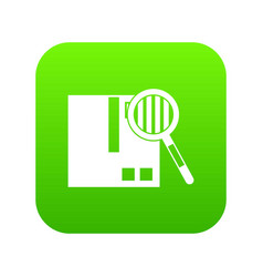 quality control icon digital green vector image