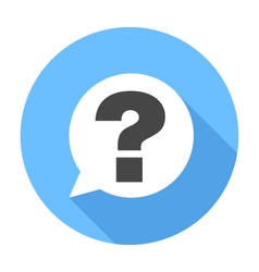 Question sign icon Flat Design icon vector image