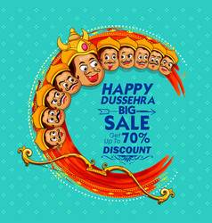 raavana with ten heads for sale promotion of vector image