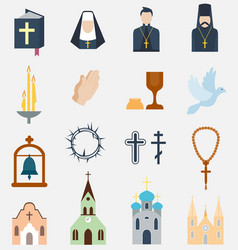Religion charity icons vector