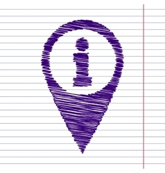 Scrible icon on paper vector