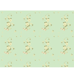 seamless background with flowers and bows vector image