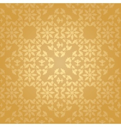 seamless floral gold background vector image