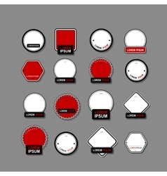 Set of labels for your design vector image