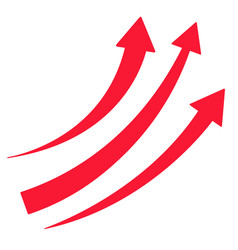 set red arrows pointing up vector image