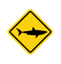 sharks warning vector image