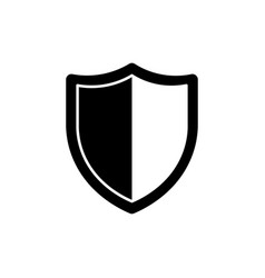 shield icon security symbol safety sign vector image