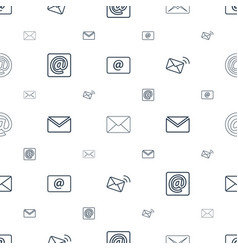Spam icons pattern seamless white background vector