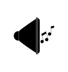 Speaker volume note melody sound music silhouette vector