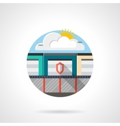 Storage units secure color detailed icon vector image