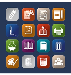 Tools learning colorful icon set eps10 vector