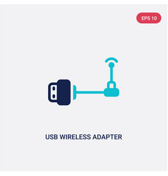 Two color usb wireless adapter icon from vector