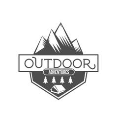 Vintage mountain explorer labels badge or logo vector
