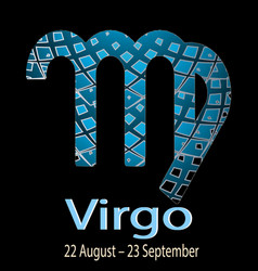 virgo ornamental decorative zodiac sign vector image