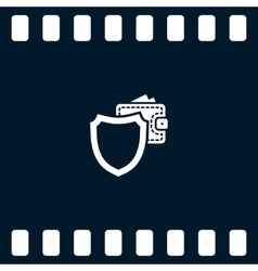 Wallet Protection Icon Flat Design vector image