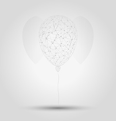 Wired balloon vector
