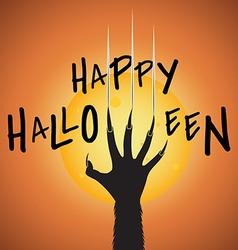 wolf halloween vector image