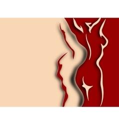 Woman and man torso Paper design vector image