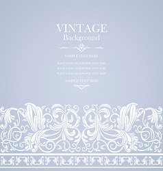 antique blue card with victorian ornament vector image vector image