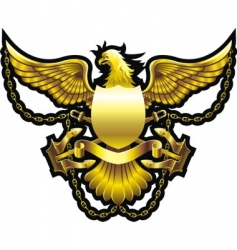 gold eagle vector image vector image