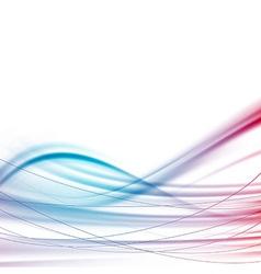 Modern power wave swoosh background vector image