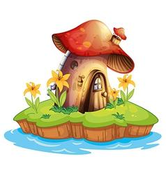 A mushroom house vector image vector image