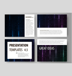 business templates for presentation slides vector image