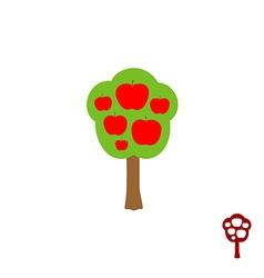 Fruit apple logo vector image vector image