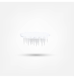 Icicles icon vector image