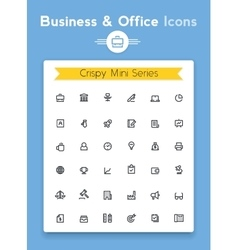 line business and office tiny icon set vector image