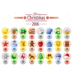 Merry christmas icon set with xmas icons advent vector