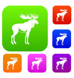 moose set collection vector image vector image