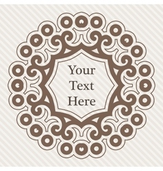 ornate richly decorated vintage frame in vector image
