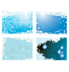 Snowy Romantic Christmas Background Set vector image vector image