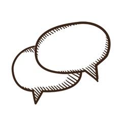 Speech bubbles dialogue elements vector image