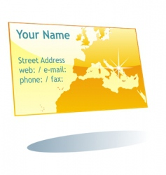 visit card vector image vector image