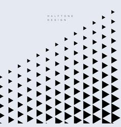 Abstract geometric triangle fashion design vector