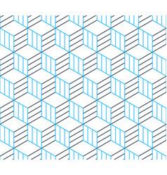 Black line pattern on white seamless backdrop vector