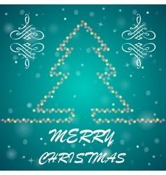 Fir-tree Christmas background vector image