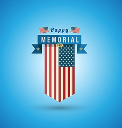 Flag of America to memorial day vector image