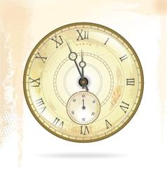 Old vintage clock face vector